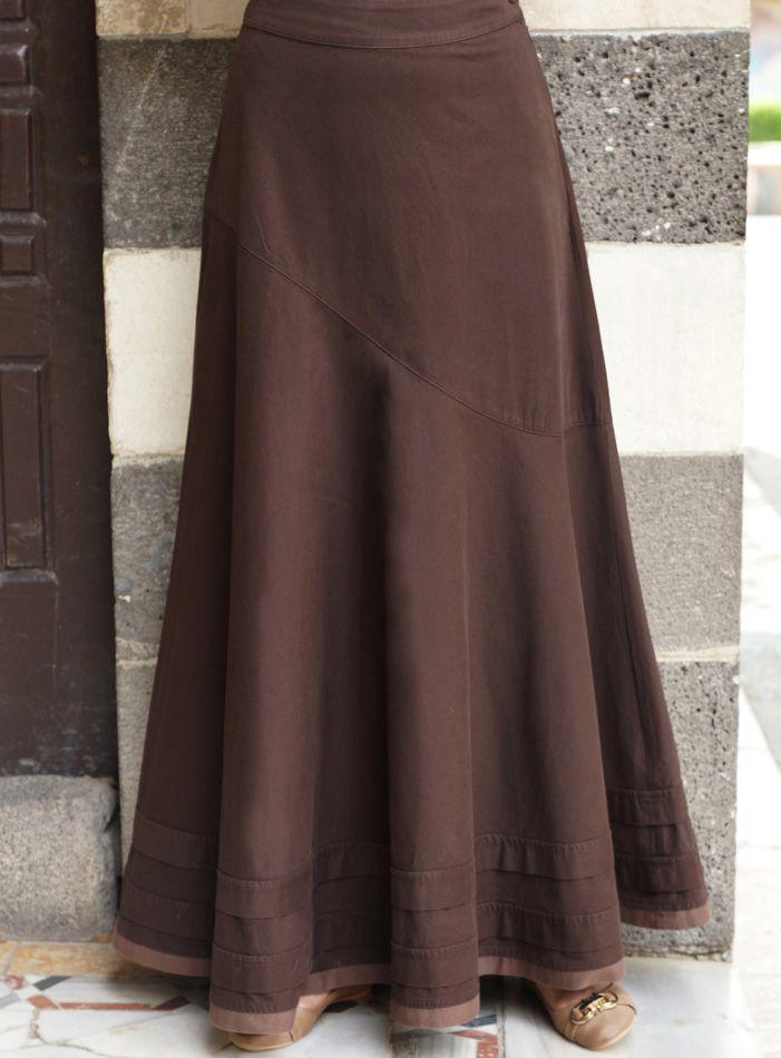 Aysmmetrical Flared Skirt #springskirtsoutfits