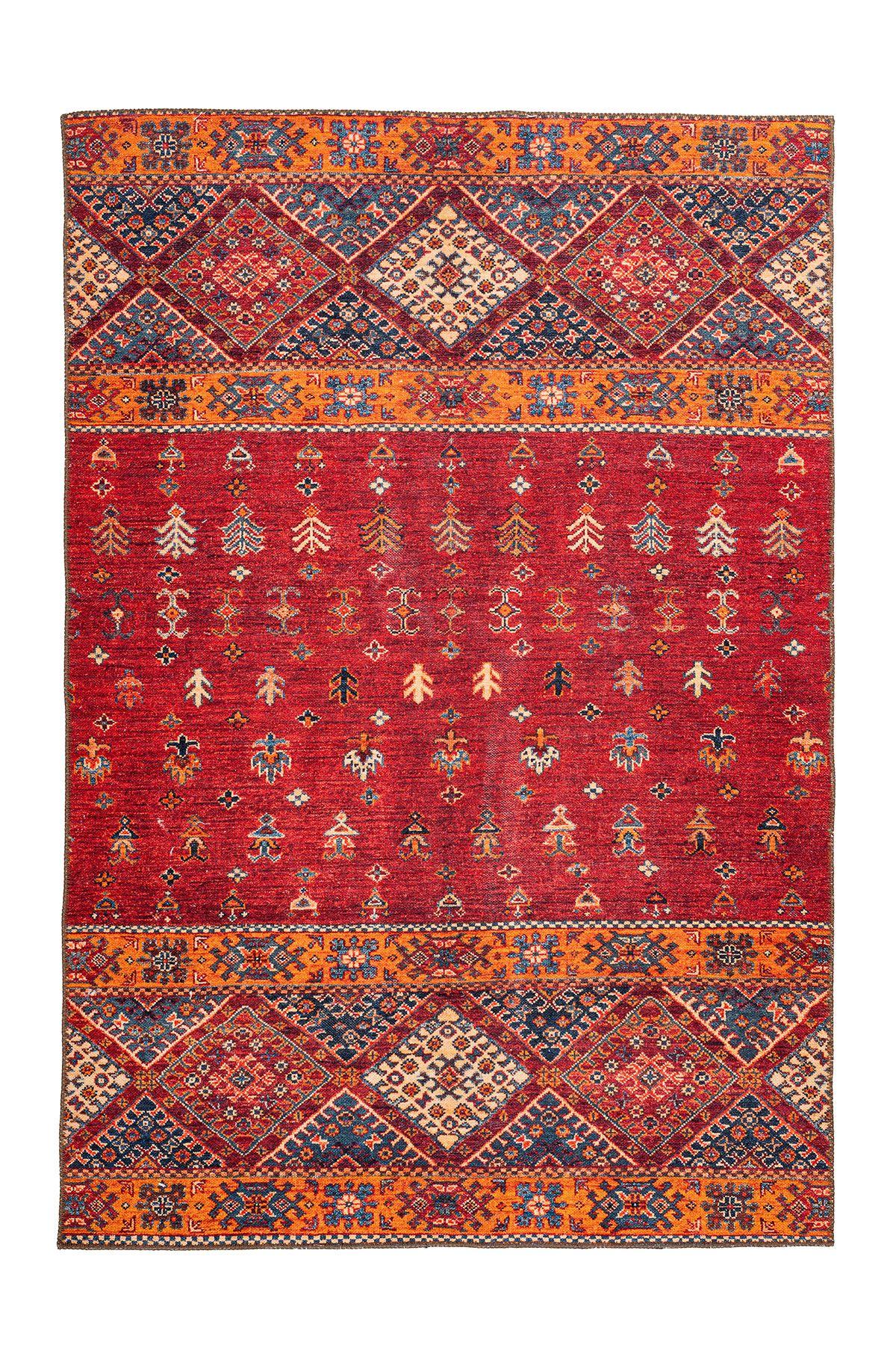 Teppich Faye 225 Multi Rot Teppich Teppichläufer Orientalisch