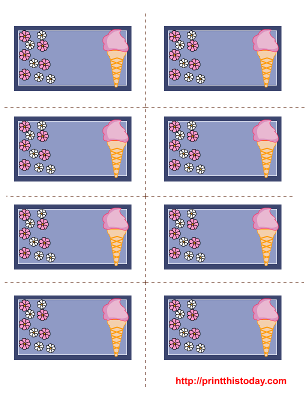 Ice cream and flowers end of year pinterest free for The crafts outlet coupon code