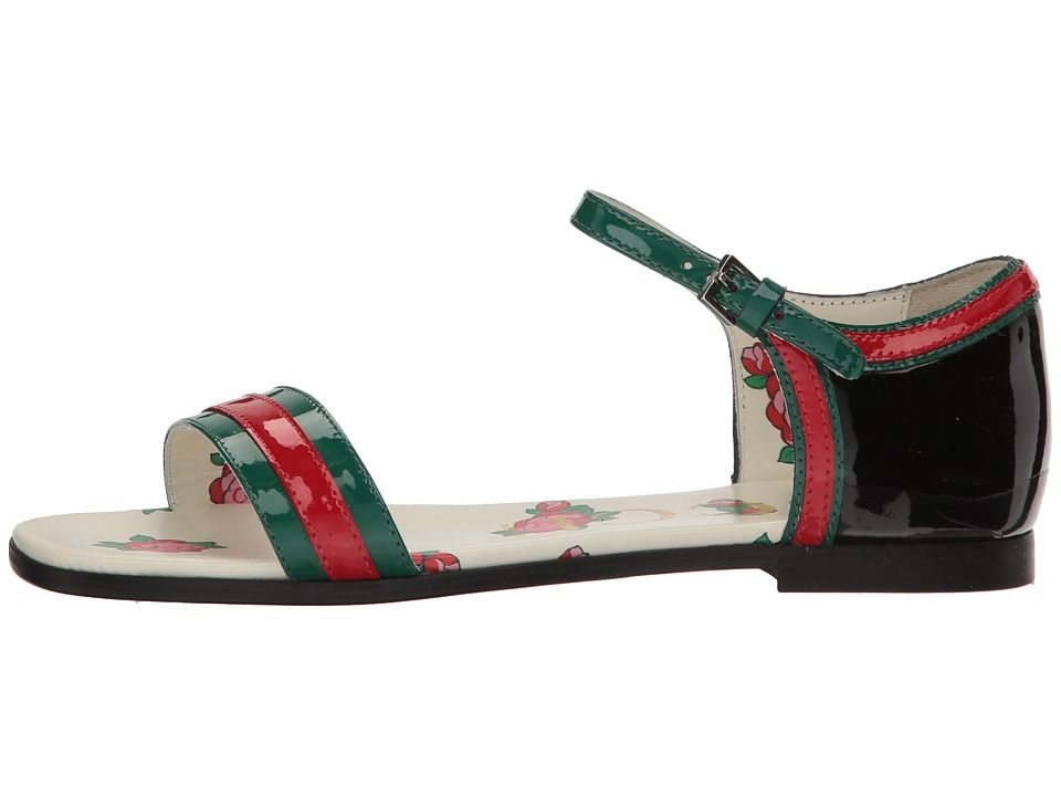 cbf395d5b Gucci Kids Abby Sandal (Little Kid) Girls Shoes Emerald/Green ...