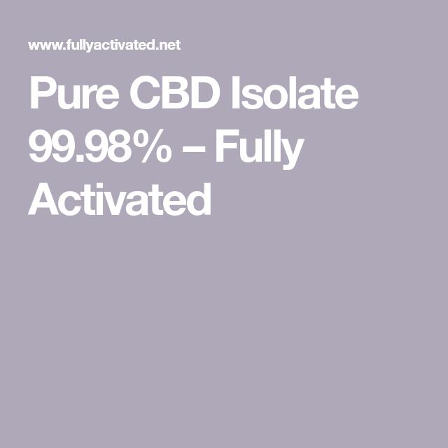 activate cbd isolate