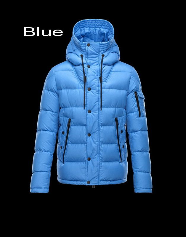 Moncler Basile Men Fixed Hood Lightweight Nylon Matt Jacket Blue 2014 Online Sale