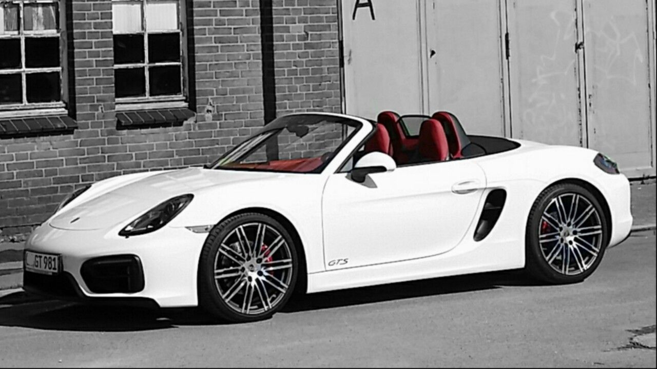 Porsche 981 Boxster GTS White with red interior Porsche