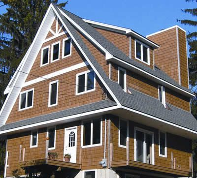 Wood Siding Gives This House A Rustic Look Visit Your Local Mccoy S Building Supply To View Different Types Of Wood Siding Www M Building Siding Wood Siding