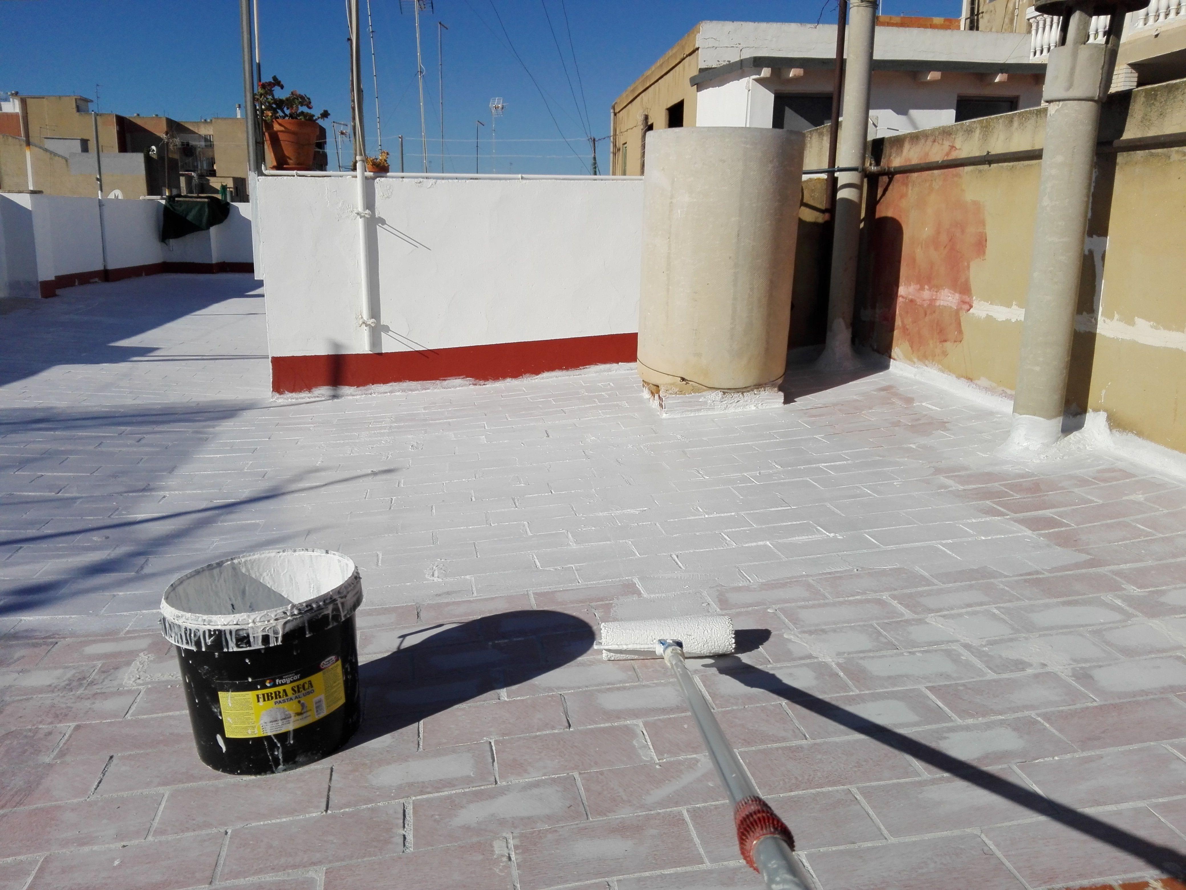 Tratamiento Impermeable En Terraza De Rasilla Terraza Fibra De Vidrio Terrazas