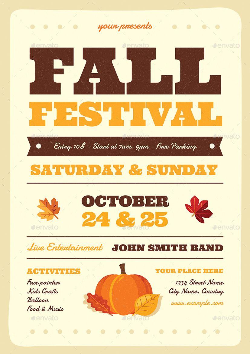 Fall Festival Flyer Festival Flyer Fall Festival Fall Fest Free fall festival flyer template