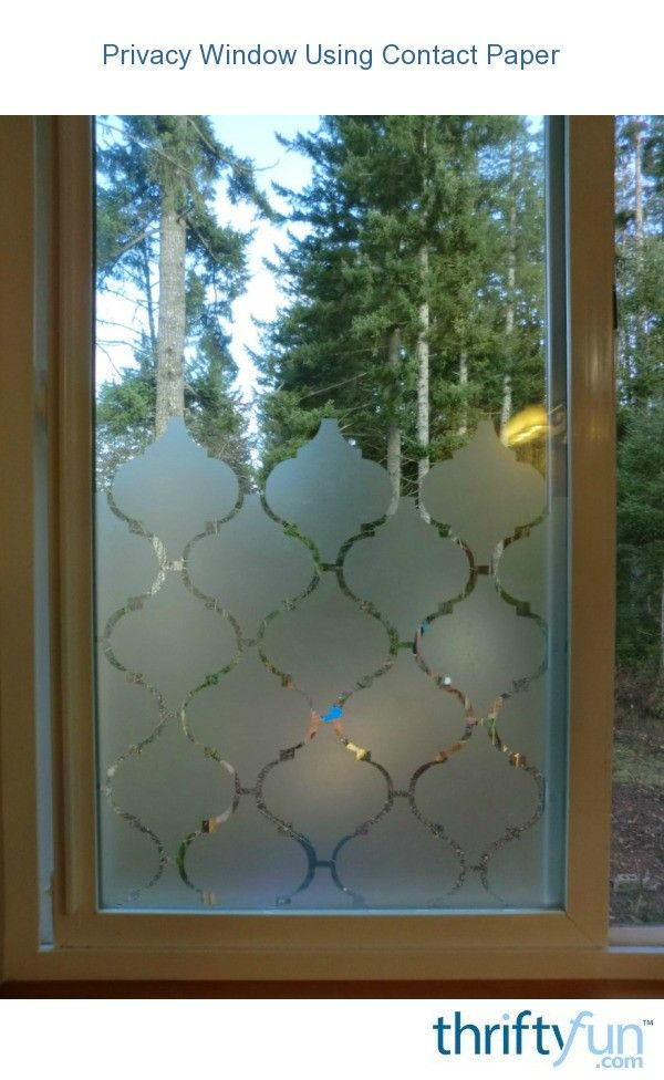 Photo of Privacy Window Using Contact Paper