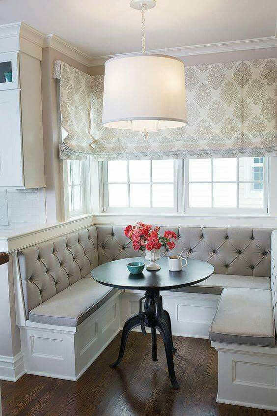 Pin By Cheri Haygood On Window Treatments Dining Nook Kitchen Banquette Kitchen Booths