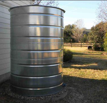 150 300 400 Gallon Round Galvanized Steel Water Storage Tanks Water Storage Tanks Water Storage Rain Water Collection