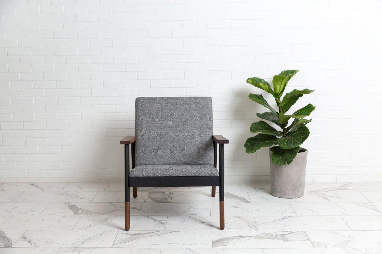 Haven lounge chair black walnut http