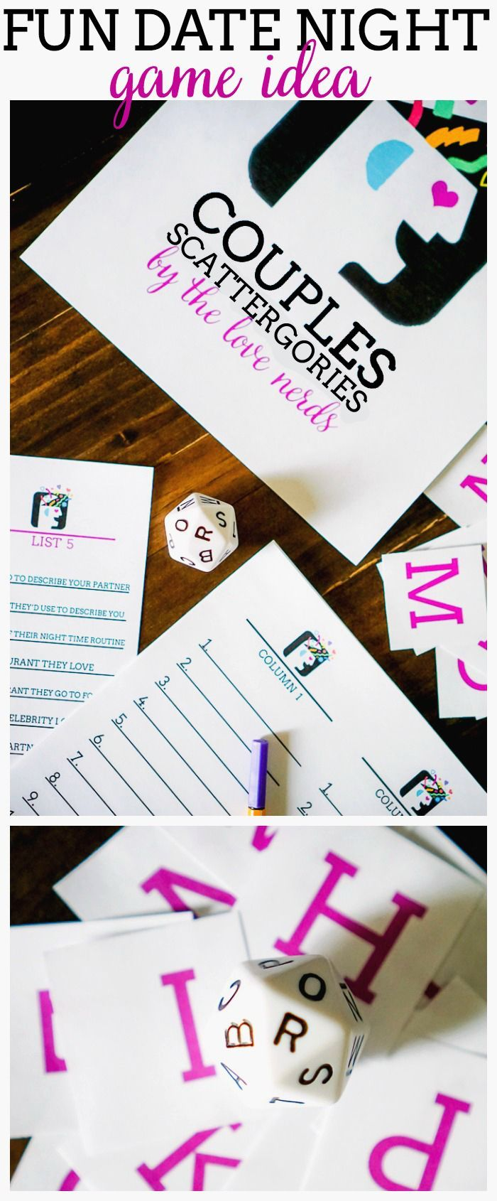 Couples Scattergories Date Night Games Valentines Games