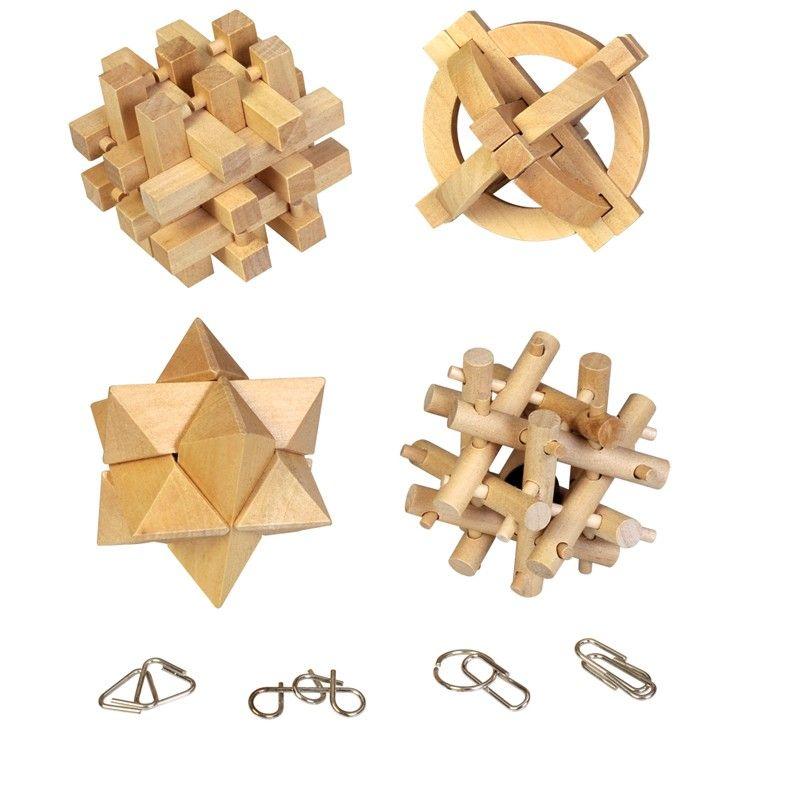 Lot de 8 jeux casse t u00eate en bois et métal Jeux casse tete, Produits de bricolage et Jeux de  # Jeux Casse Tete Chinois En Bois