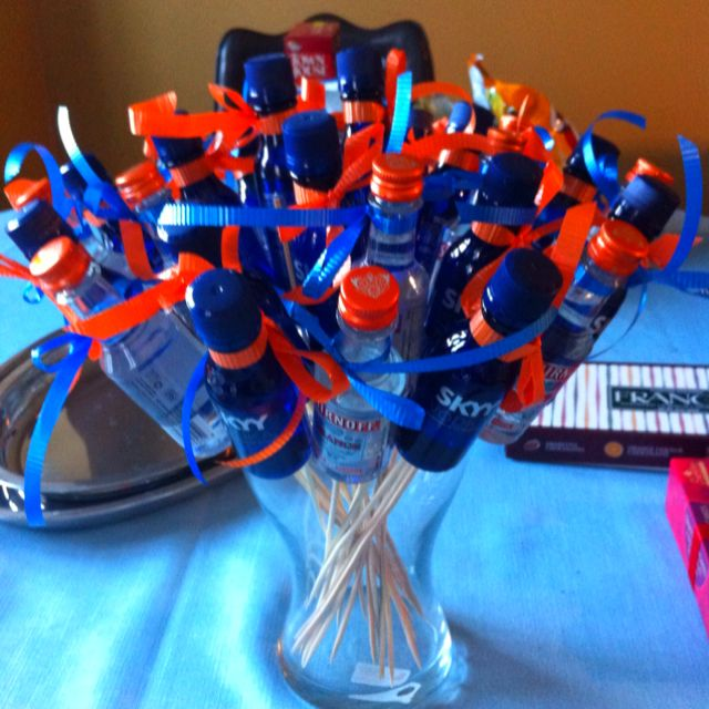 Adult Party Favors. Hot Glue Skewers To The Back And Tie