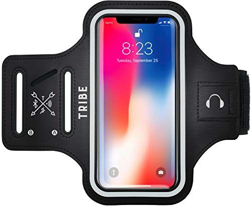 TRIBE Water Resistant Cell Phone Armband Case for iPhone X Xs 8 7 6 6S Samsung Galaxy