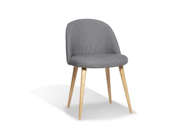 chaise style scandinave en chne et tissu de la marque danoise hbsch quipe de pieds obliques - Chaise Style Scandinave