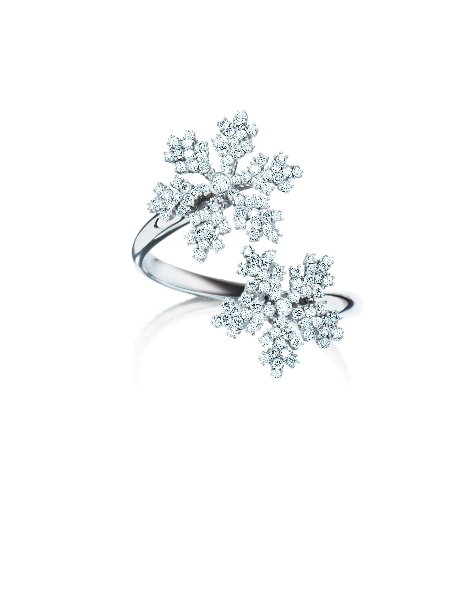 8369dc1cd0507f Birks Snowflake ® Two Snowflakes Diamond Ring