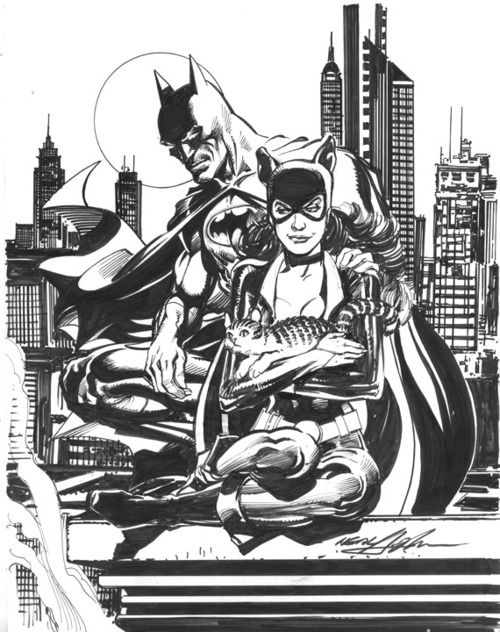 Batman and Catwoman by Neal Adams