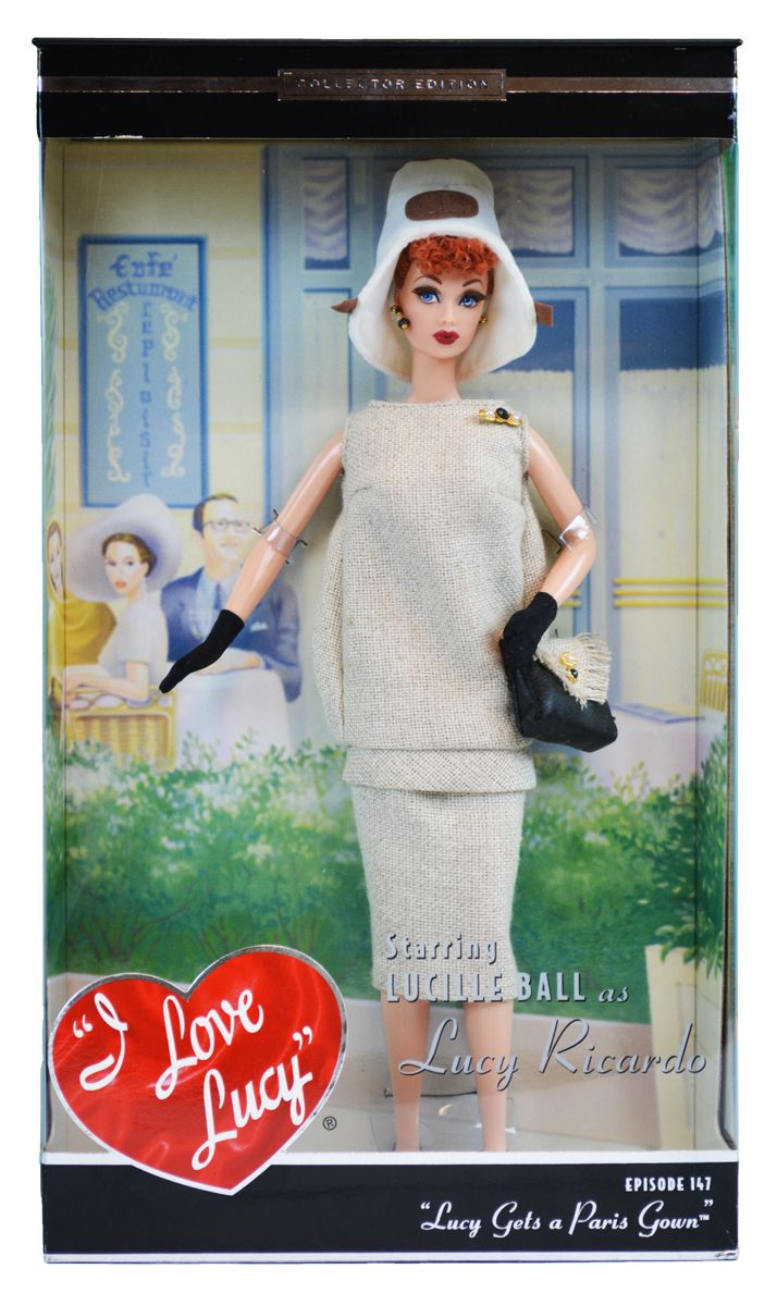 Mattel Lucy Gets A Paris Gown Barbie Doll | LucyStore.com, $99.95 ...