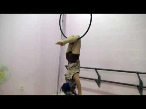 Aerial Hoop Lyra Conditioning - YouTube