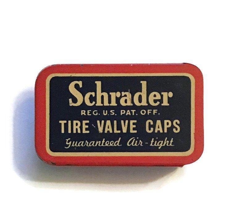 Vintage Schrader Valve Caps Tin 1930s To 1940s Clean And Bright In 2020 Valve Cap Valve Valve Stem Caps