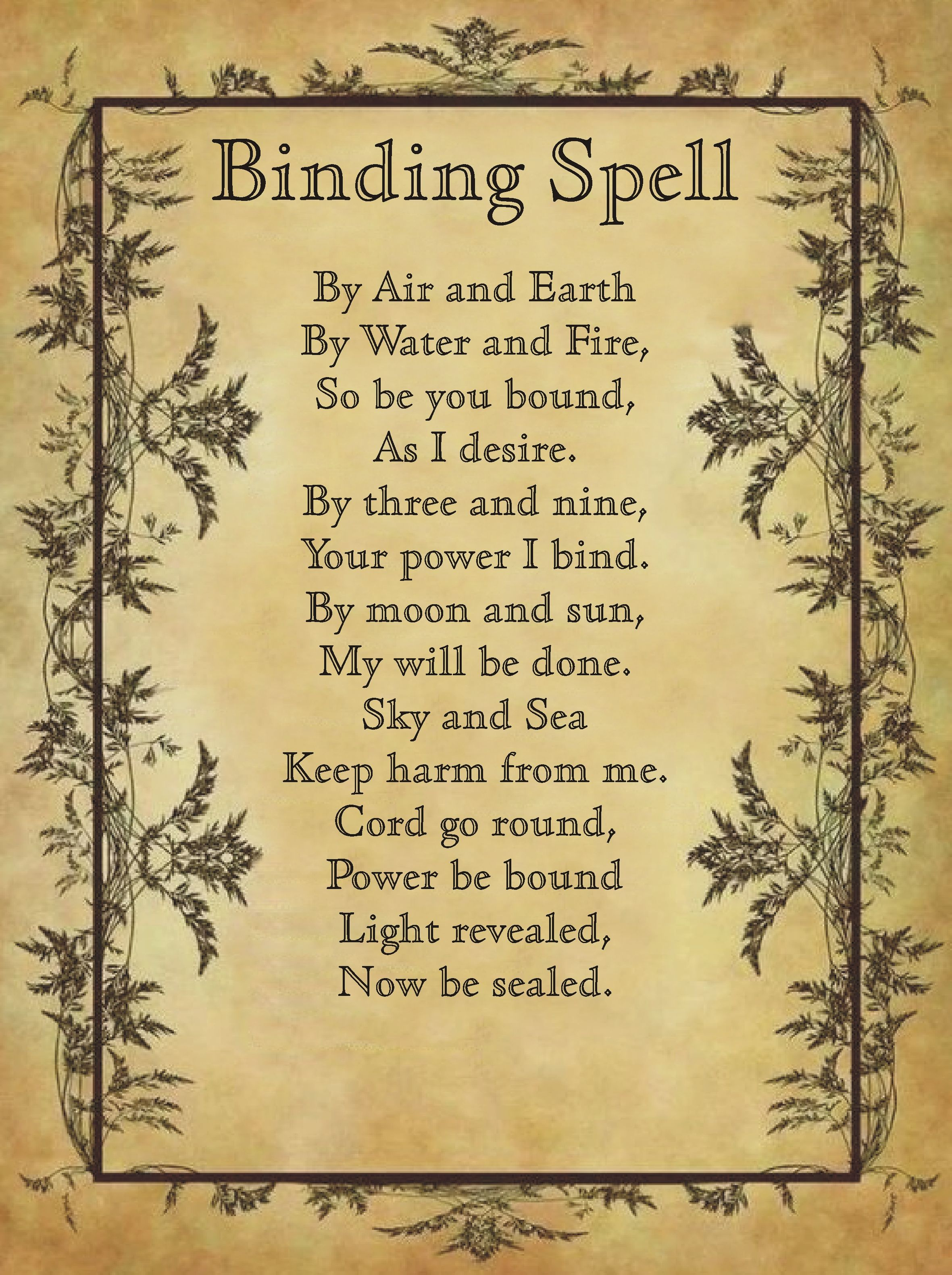 Binding a what spell is Black magic