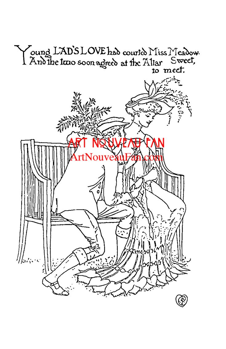 Book color illustrator - An Inide Peak Of My Art Nouveau Coloring Book A Flower Wedding Adapted For