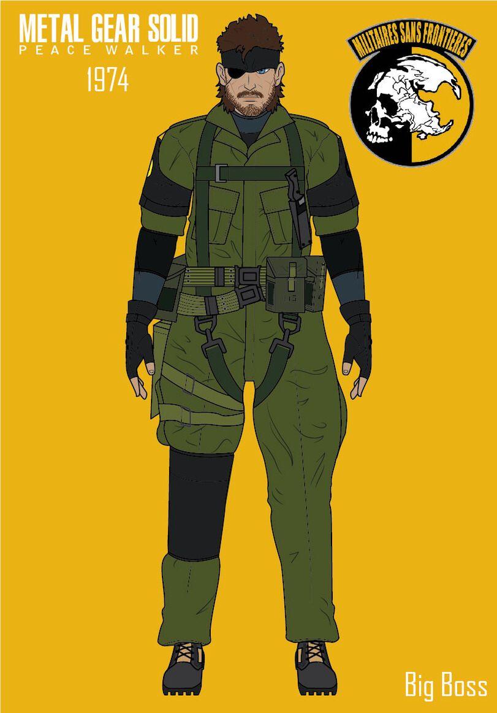 Big Boss Metal Gear Solid Peace Walker Games Jogos Jogos