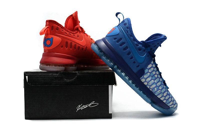 pretty nice 5b2e4 a350e 2017 High Quality Nike Cheap and New KD 9 IX 855908 400 Fire Ice Deep Royal  Blue Photo Blue University Red