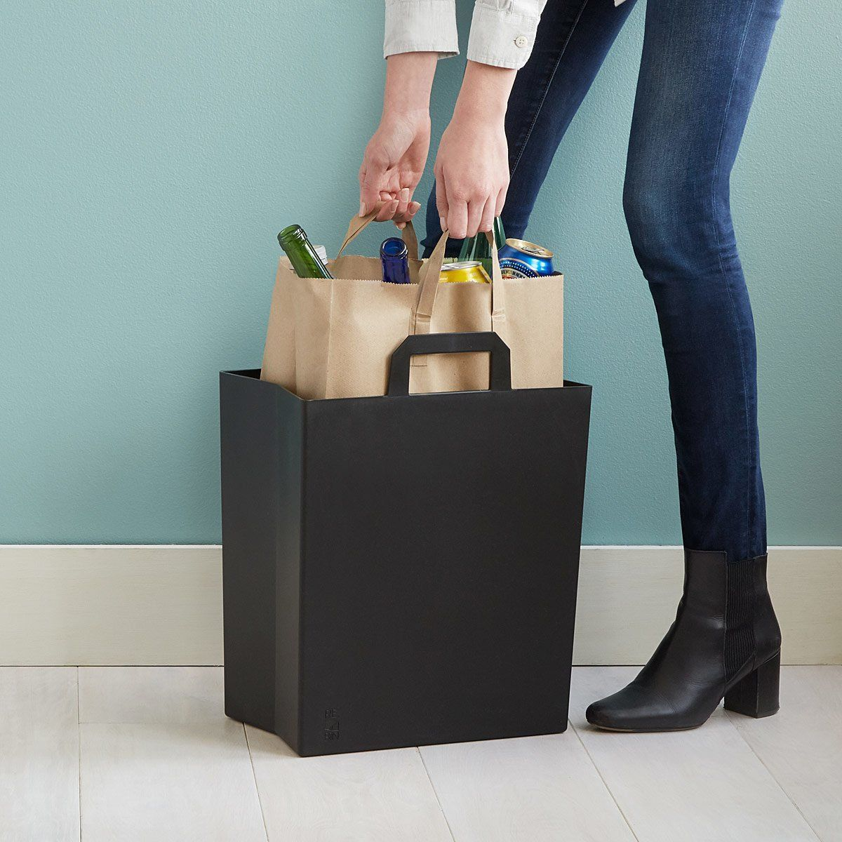 Paper Bag Recycling Bin Kitchen
