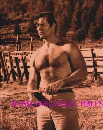 Clint Walker Shirtless Hairy Chest Beefcake Sepia Photo Ebay