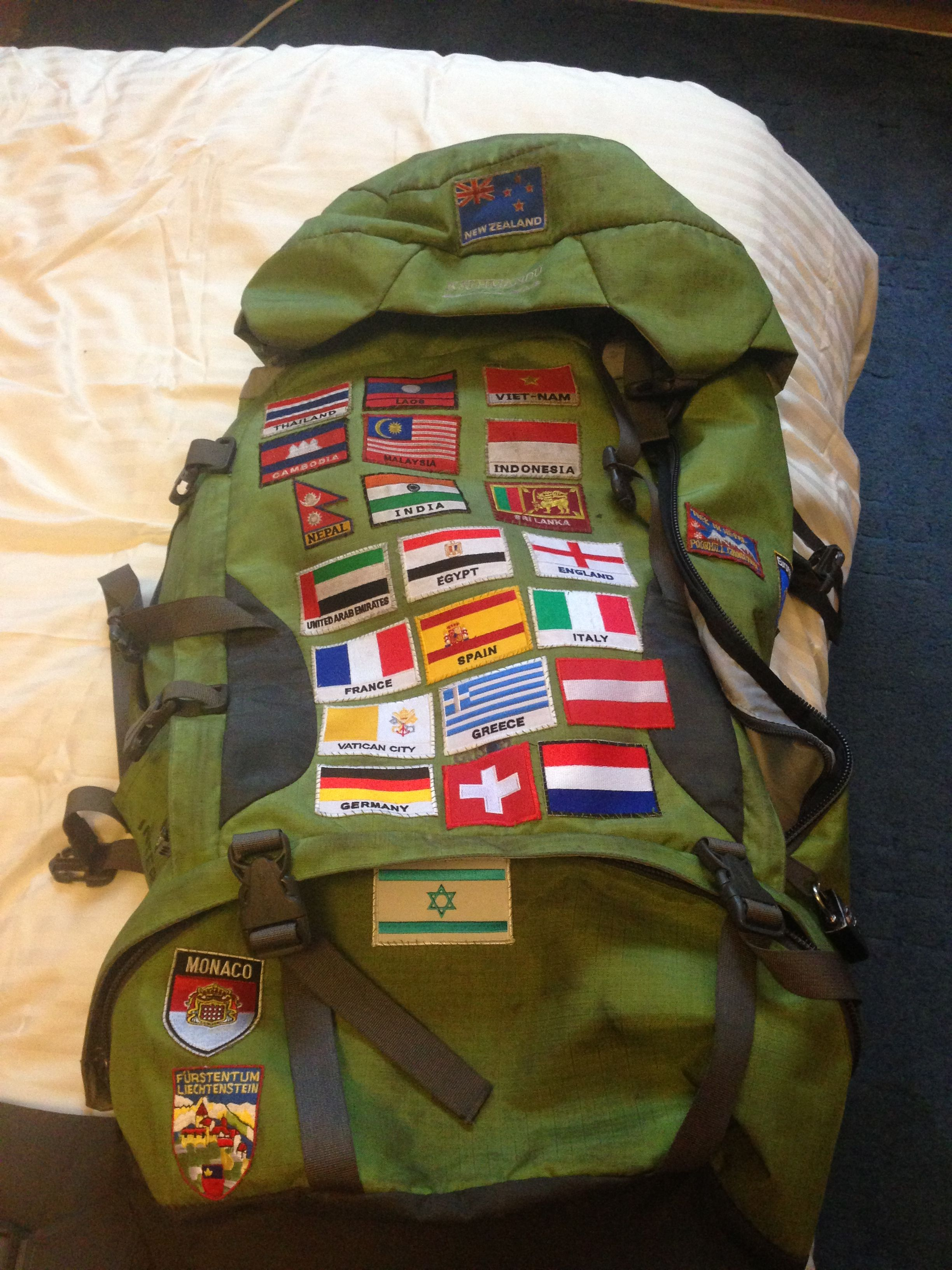 Sew patches on to your backpack in every country you go to if you