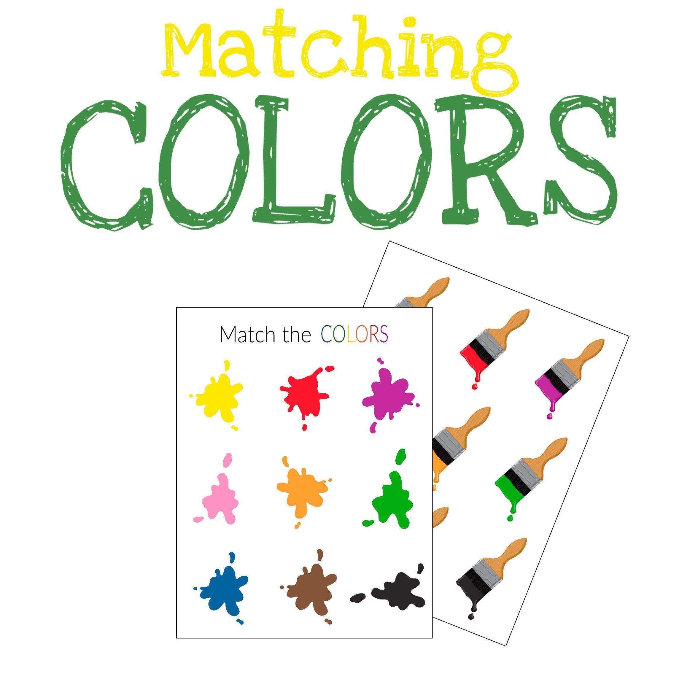 Colors Matching Sorting Activity Printable Worksheet