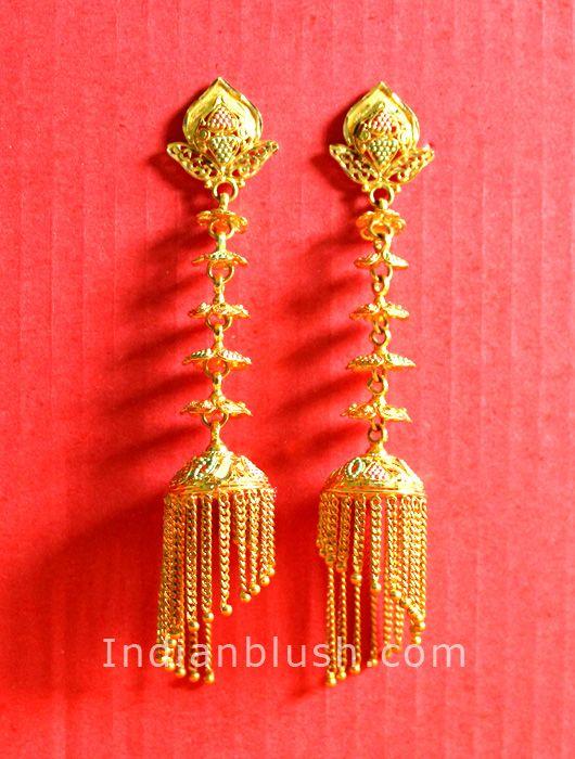 bengali traditional gold jewellery earring jewellery earrings