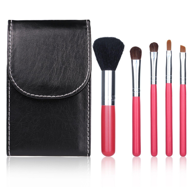 Docolor 5Pcs Makeup Brushes Set Goat Hairs Eyeshadow Kits