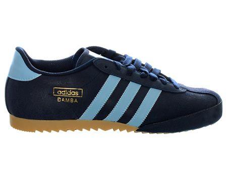 Adidas Bamba Navy Light Blue Suede