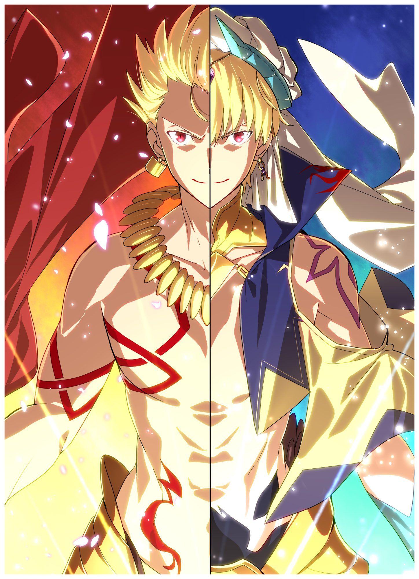 Twitter in 2020 Fate anime series, King gilgamesh