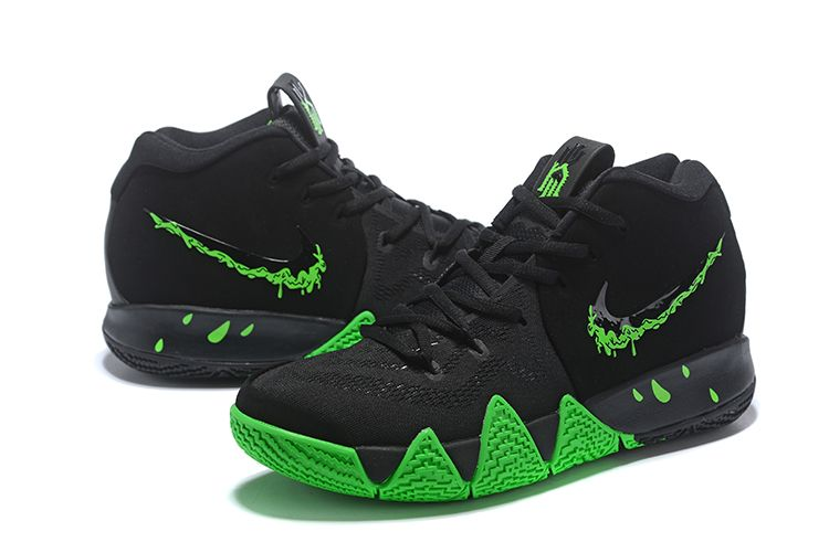 "c50b19cc62518 2018 Nike Kyrie 4 ""Halloween"" Black Rage Green 943806-012 in 2019 ..."