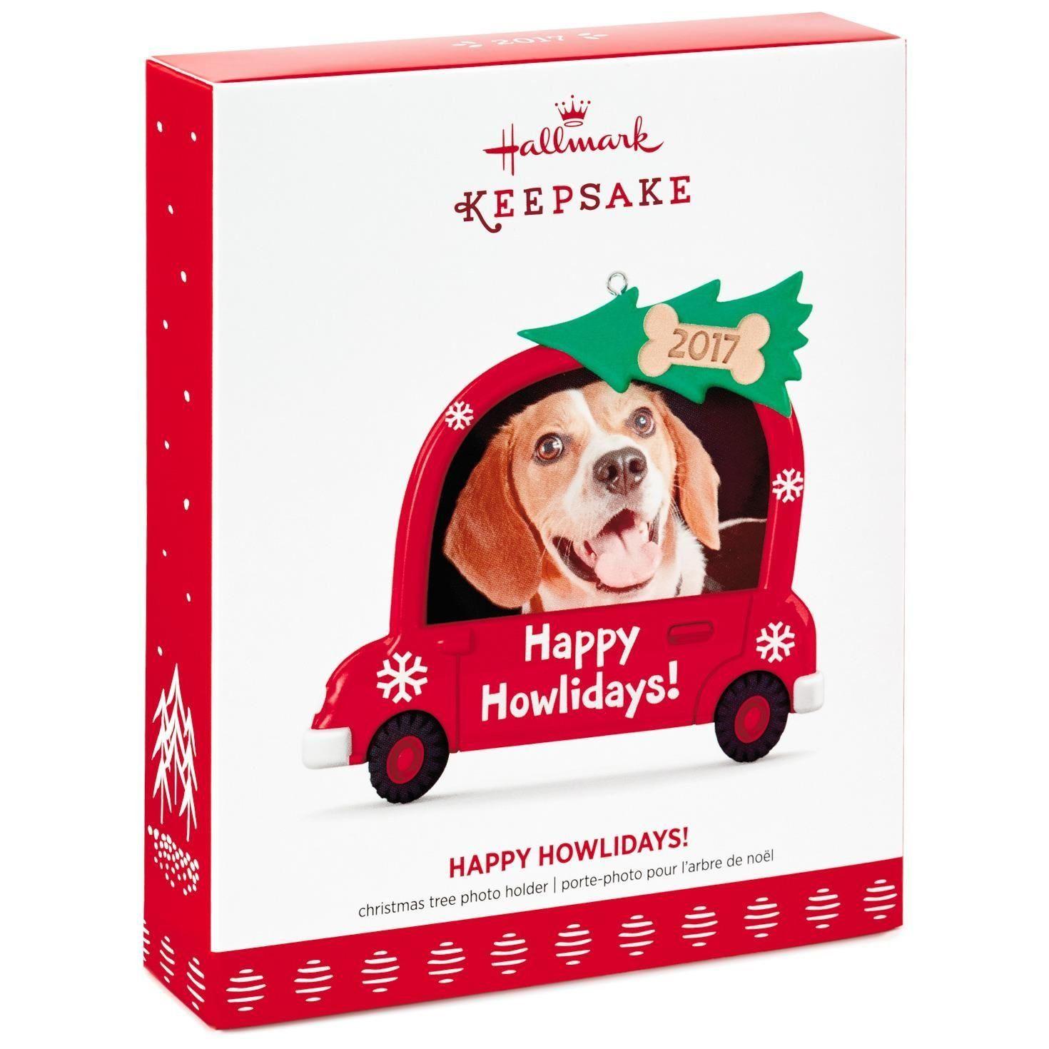 Hallmark Keepsake 2017 Happy Howlidays! Dog Picture Frame