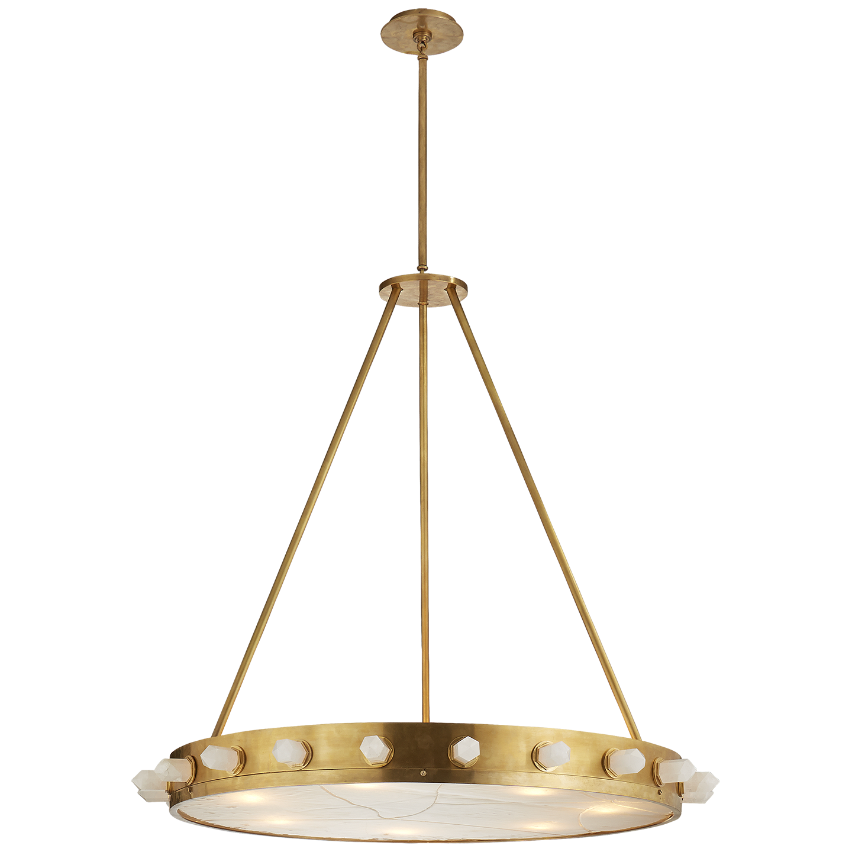 Antique burnished brass and quartz ceiling fixturesceiling