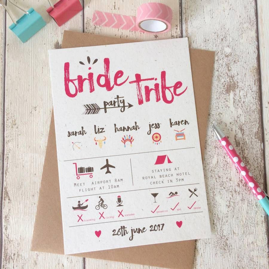Bride Tribe Hen Party Invitations | Hens party invitations, Hens and ...