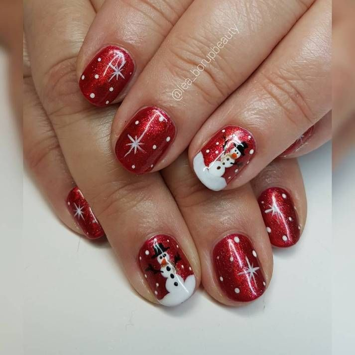 Christmas Nails Not Acrylic: 45 Simple Festive Christmas Acrylic Nail Designs For Winter