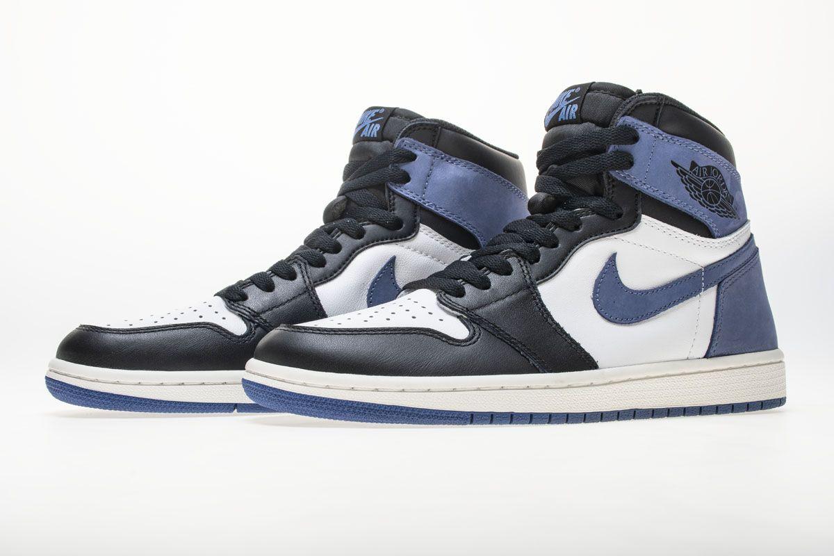 688fdf85dab9 Air Jordan 1 OG High Retro Blue Moon 555088-115 Basketball Shoes 4 ...