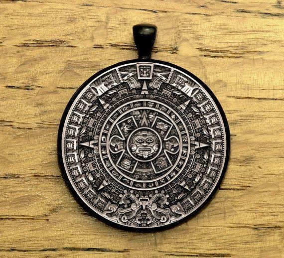 Jewellery Calendar Design : Legendary aztec calendar stone design antique silver