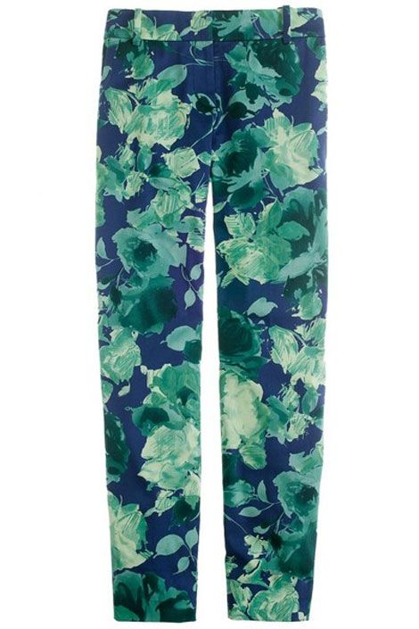 J.Crew floral capri pants