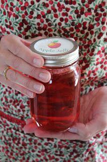 Apple Juice Jelly: apple juice, pectin, sugar & red hot candies