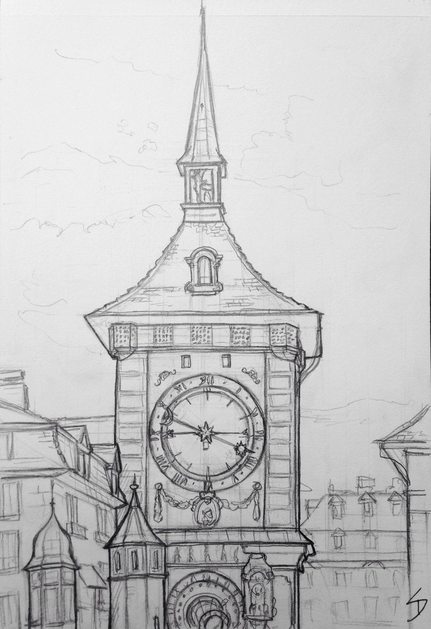 Es Una Regular Y Un Cronometro Exagerado Todavia Esta A Solo Un Par De Metros De Distancia In 2020 Architecture Drawing Sketchbooks Cool Art Drawings Clock Drawings
