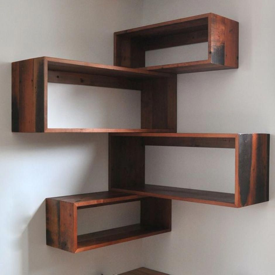 green corner wall shelf idea | 50 Attractive Corner Wall Shelves Design Ideas for Living ...