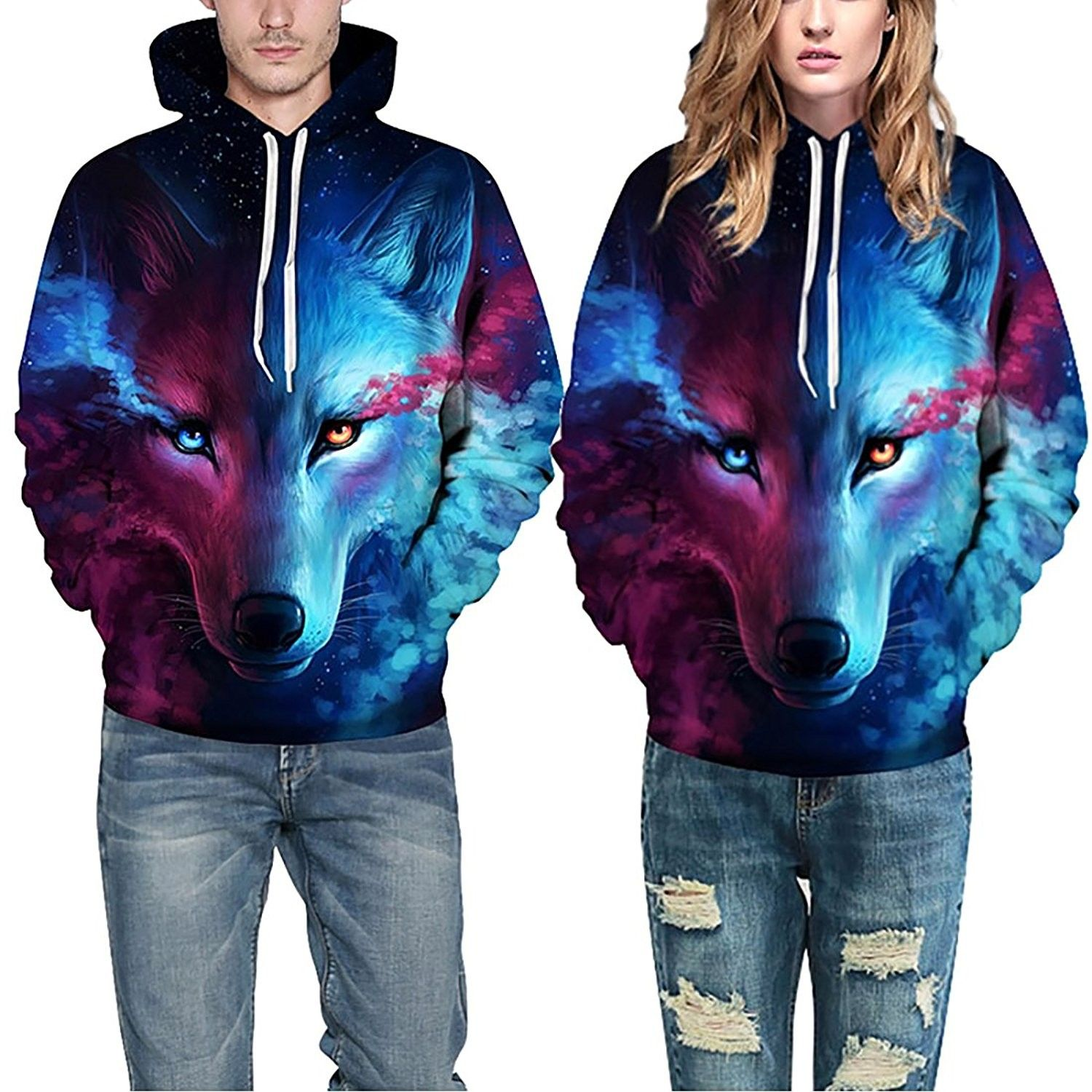 Couple Sweatshirts Hoodies 3D Womens Mens Hooded Pullover Sweater Unisex Casual