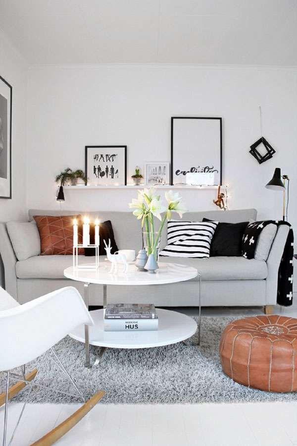 Veja Como Decorar Sala Pequena Em 45 Fotos Inspiradoras De Ambientes Lindos E Possíveis Confira 20 Small Living