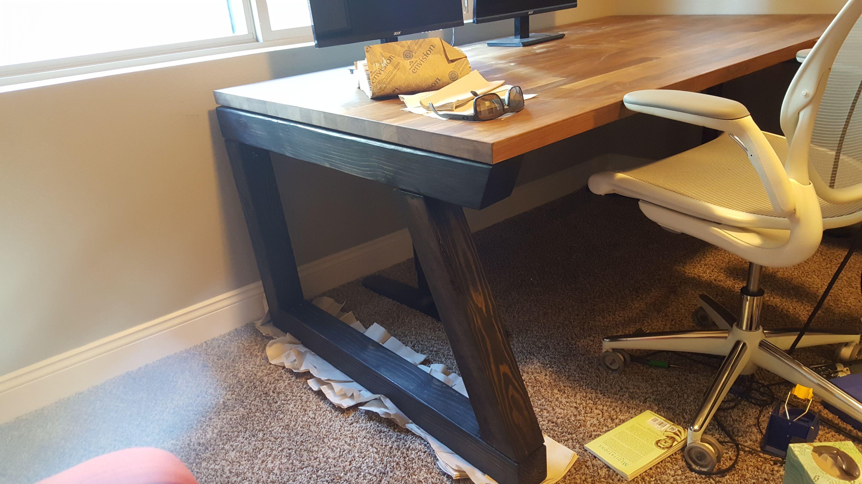 Diy Computer Desk Ikea Hack Countertop Desk Build It Yourself